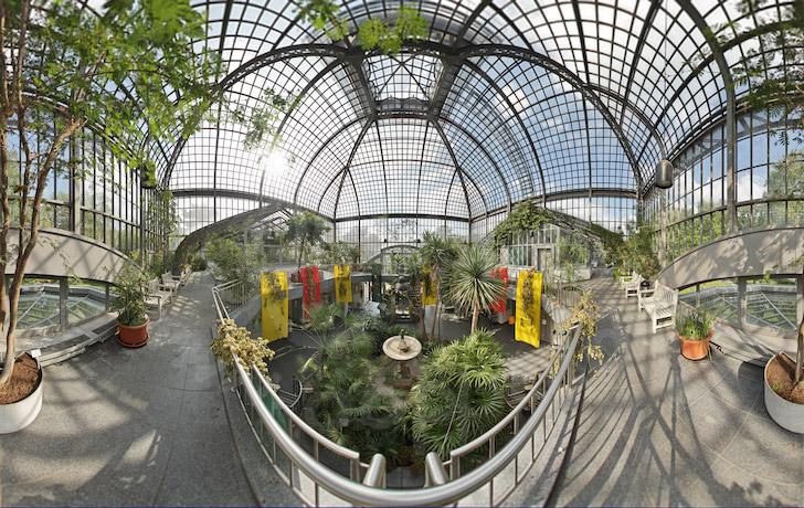 palmengarten eingangsschauhaus panorama frankfurt p1164. Black Bedroom Furniture Sets. Home Design Ideas