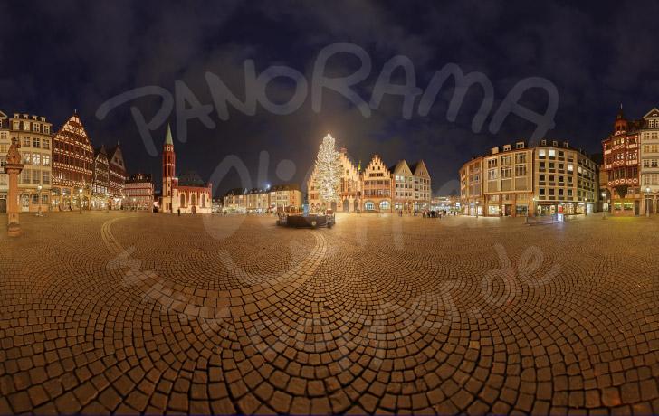 panorama frankfurt der weihnachtsbaum auf dem r mer kurz. Black Bedroom Furniture Sets. Home Design Ideas